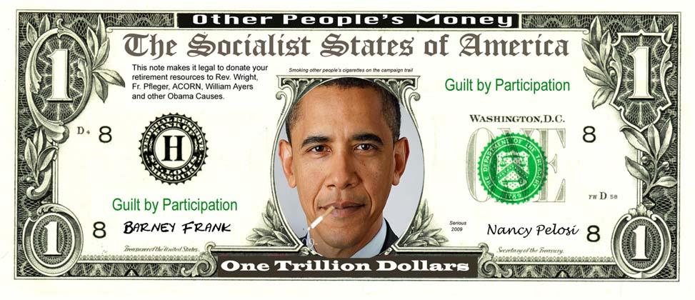 obama trillion dollar bill politically correct economics