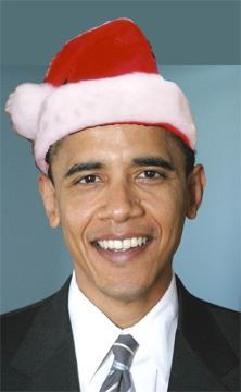 obama politically correct santa claus